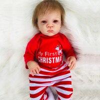 50 см кукла реального возрождается ребенка винил новорожденный Мягкая силиконовая кукла Boneca 20 дюймов Коллекционная Кукла Карапуз Подарки д