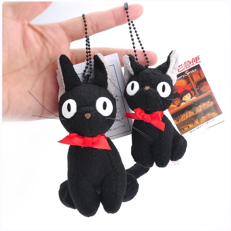JP Cartoon Black Cat Gigi Totoro Succuba House Emergency Short Plush Lint Backpack Pendant /Ornament Comic Gift
