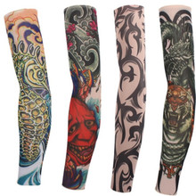 8 PCS/lot new mixed 100%Nylon elastic Fake temporary tattoo sleeve designs body Arm stockings tatoo for cool men women hot