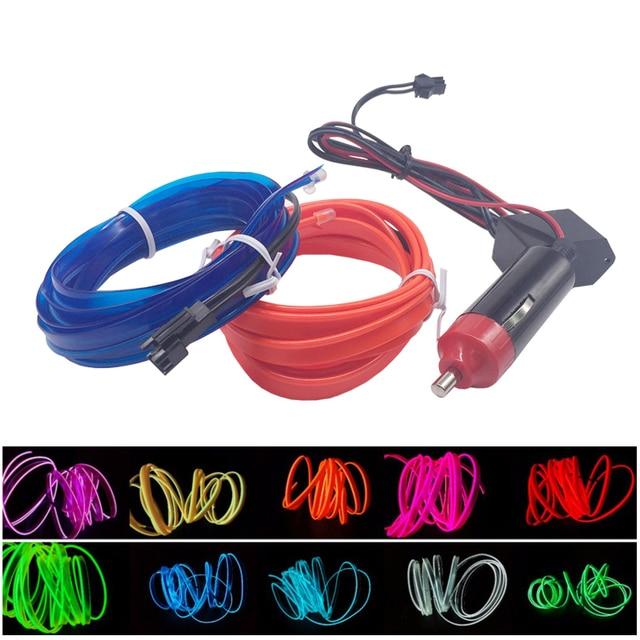 2 mt Auto Flexible Neon Kaltes Leuchten EL Draht Streifen band EL ...