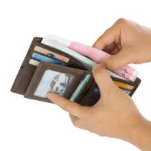 J.M.D New Style Design Fashion Mens Wallet Card Holder Purse Photo Window Money Pocket 8157-3Q