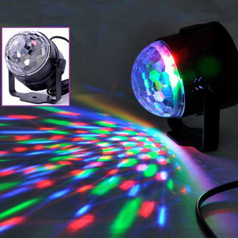 Auto Sound Control Magic Crystal Stage Lights Rotating Ball Effect RGB LED Light for KTV Xmas Party Wedding Show Club Disco DJ 10pcs rgb strobe stage light sound active audio 12pcs leds for dj show ktv xmas party wedding club pub disco
