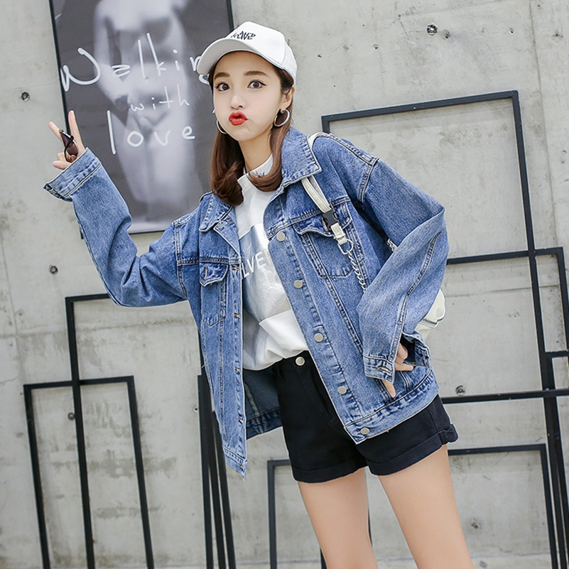 The Free Blue Sexemara New Denim Loose Fashion Jacket Printing Beading Shipping q15p1vn