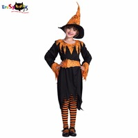 Eraspooky Halloween Costume For Kids 2018 Children Long Sleeve Costume Dress With Hat Pumpkim Spider Witch