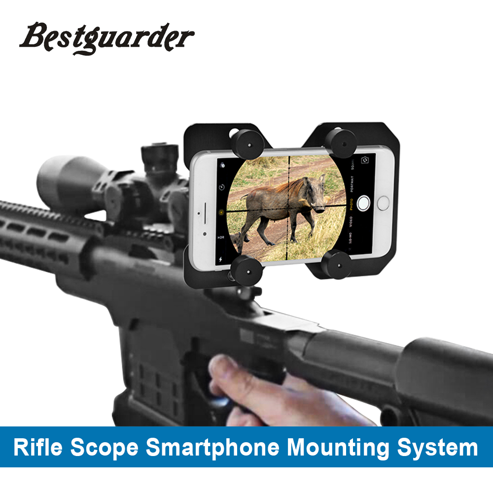 Bestguarder Hunting Rifle Scope Smartphone Mounting System Smart Shoot Scope Mount Adapter-Record the hunt Via Cell Phone bestguarder sy 007 360 degree wireless hunting trail