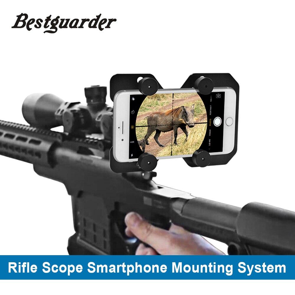 Bestguarder Hunting Rifle Scope font b Smartphone b font Mounting System Smart Shoot Scope Mount Adapter