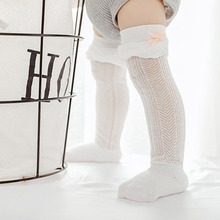 3 Pairs Baby Thin Tights Stocking Girls Cotton Bow Lace Hosiery Kids Stockings Mosquito Prevention 0-1 year