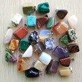 Atacado 50 pçs/lote 2016 venda quente na moda Assorted pedra Natural Irregular Mista forma pingentes encantos jóias Frete grátis