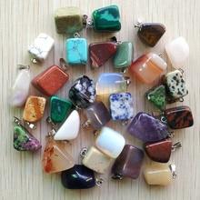 Venta al por mayor, 50 unidades/lote, 2019, superventas, surtido de piedras naturales, mezcla de formas irregulares, colgantes abalorios joyas, envío gratis