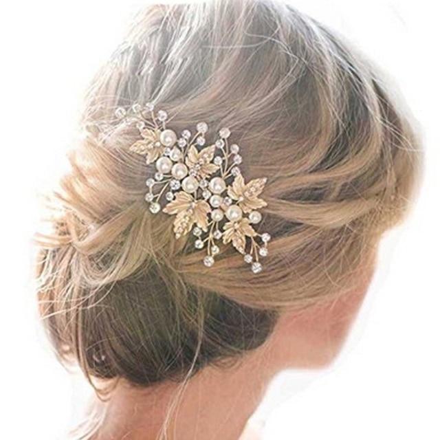Javrick 2pcs Bride Hair Clips Wedding Rhinestone Alloy Accessories Jewelry Bridal Pins