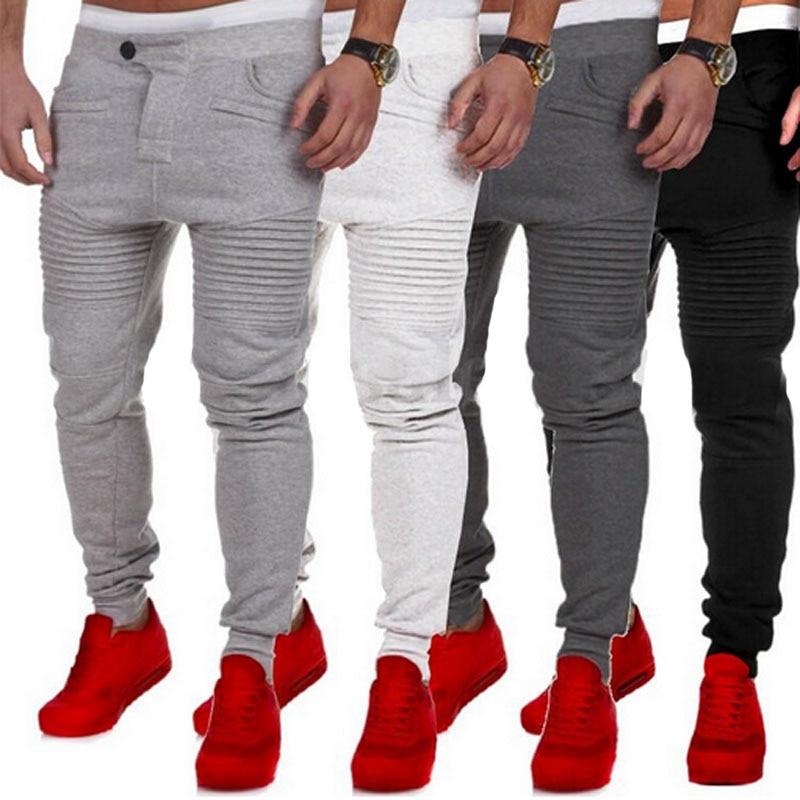8495066e 2019 hot New Fashion Casual Skinny Mens Track Pants Skinny Harem Sweatpants  Tracksuit Bottoms Pants Trousers casual Pants-in Harem Pants from Men's  Clothing ...