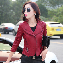 2016 Autumn And Winter Leather Jacket Women Slim Plus Size 5XL Women's Leather Clothing Coat Short Design Leather Coat Lady A725