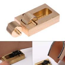 1 Juego de Herramientas de grabado de cuero de cobre puro artesanía de cuero borde teñido aceite coser DIY juegos de costura de mano herramienta de Fabricación de cuero 2 rodillos