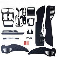 5D Personality Interior Carbon Fiber 5D Decoration modification sticker Decoration car sticker For Golf 6