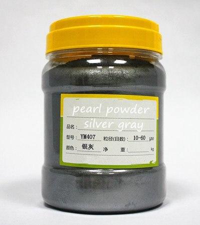 500 г бесплатно фиолетовый цвет натуральная минеральная пудра MICA порошок сделай сам для мыла краситель для мыла макияж тени для век порошок пигмент для окрашивания автомобиля - Цвет: silver gray