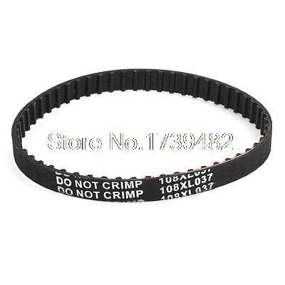 108XL037 Black Rubber 274.32mm x 9.5mm 54 Teeth Electric Planer Drive Belt