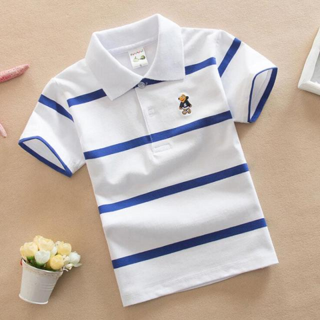 fec4f59326 Children's Short Sleeve Boys Polo Shirt Striped Kids Boy Tops tees Cotton  School Polo Shirts 2018 Summer Girls Boys Polo Shirts