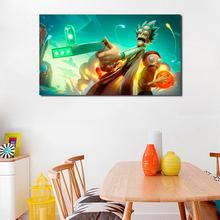 Rick And Morty Dragon Ball HD Wall Art Canvas Poster Print Painting Oil Decorative Picture For Living Room Home Decor