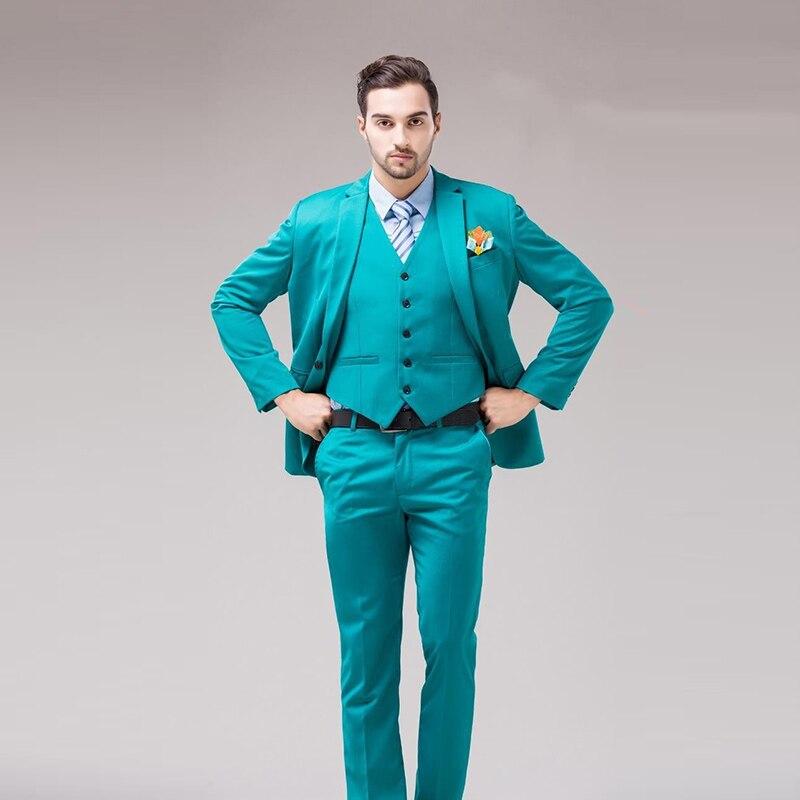 8ea8727d6 Encargo custom Verde De Unidades Guapo Slim Pantalones Chaleco Fit ...
