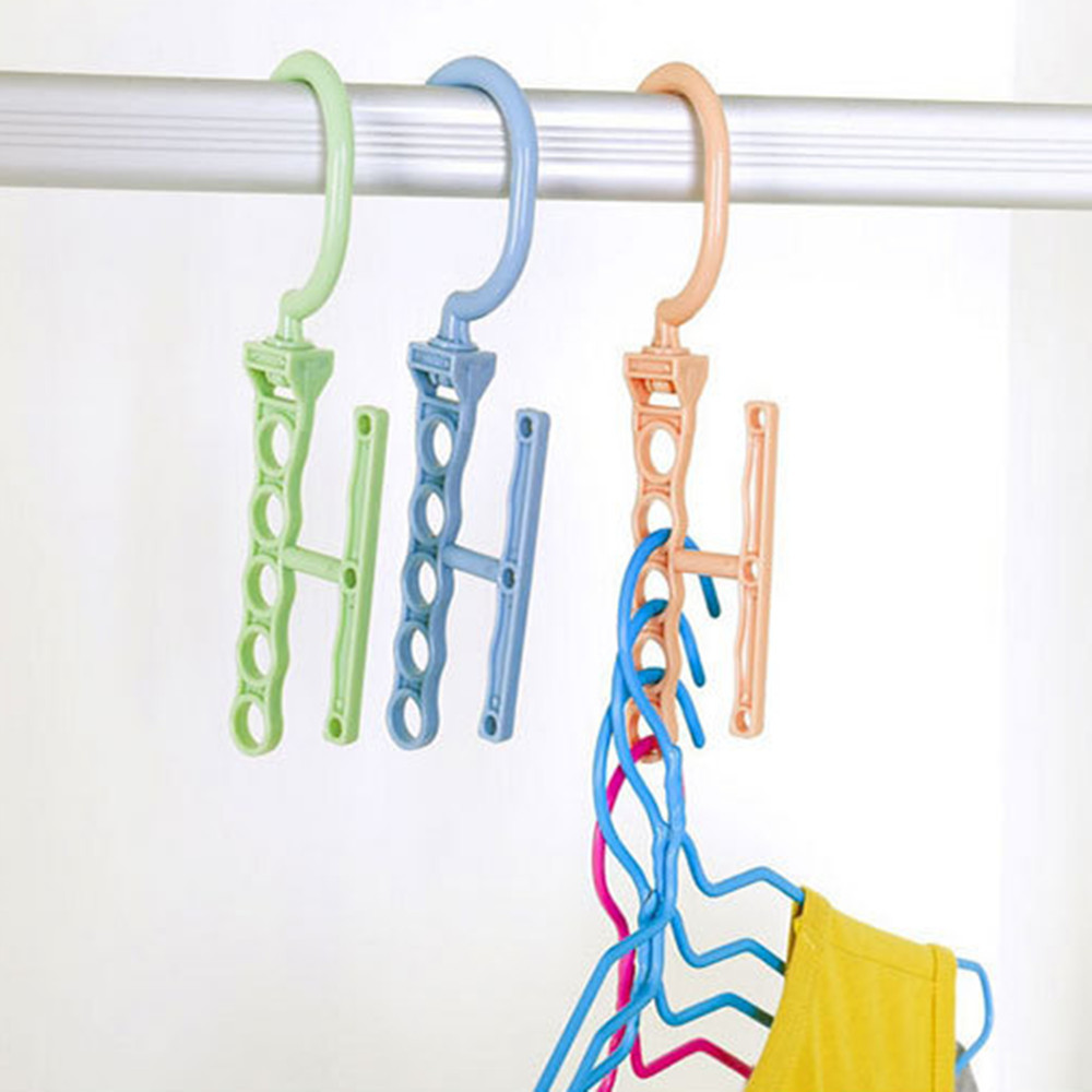 Practical Clothes Hanger Rack Space Saver Organizer Wonder Clothing Hook Magic Hanger Closet Organizer Space #3X