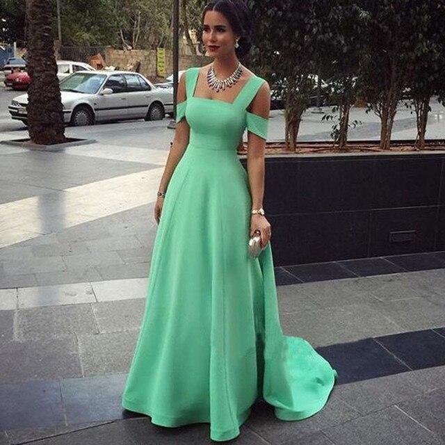 Modern Simple A Line Prom Dresses Custom Made Cheap Apple