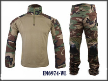 EM Gen2 Airsoft Military Combat Suit Woodland elbow knee pads Water-resistant Tactical Shirt & Pants Uniform EM6974