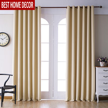Modern blackout curtains for living room bedroom curtains for window treatment drapes yellow finished blackout curtains 1 panel(China)