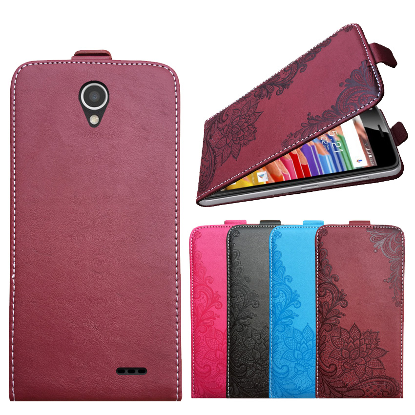 3D Stereo Embossing lace flower butterfly flip up and down leather phone bag cover case for ZTE Prestige 2