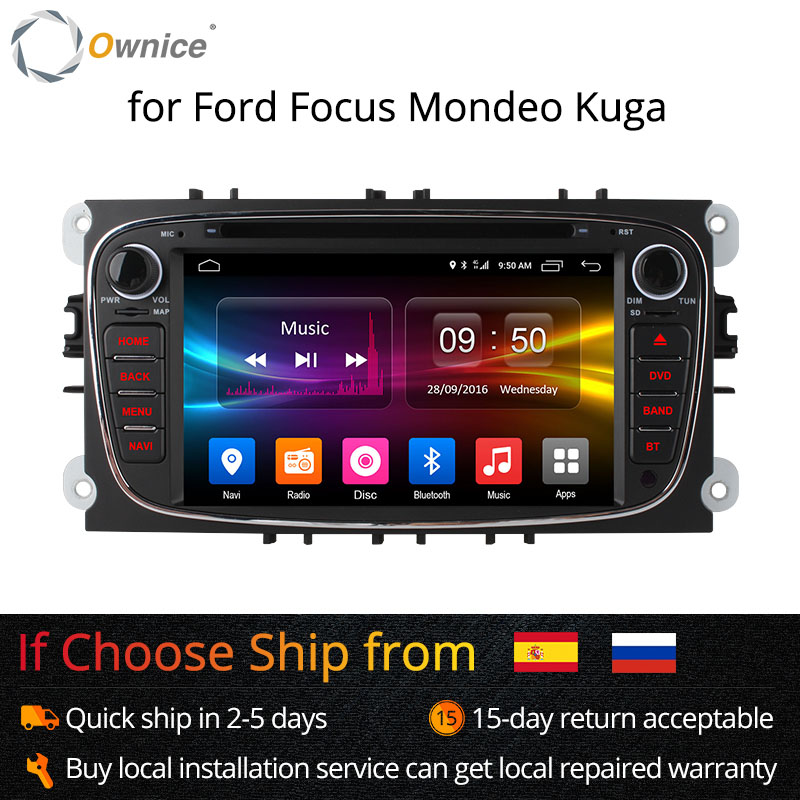 Ownice K1 K2 8 4G LTE Android 6.0 Octa Núcleo GPS DVD Player Do Carro Para FORD Mondeo S-MAX Conectar FOCO 32 2 2008 2009 2010 2011G ROM