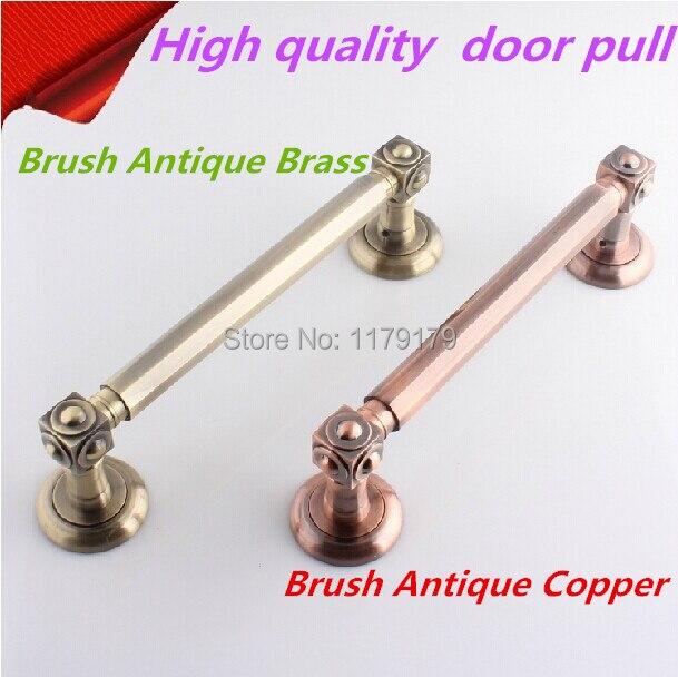 free shipping 295mm Top quality antique copper KTV OFFICE  ,HOME Wood glass door pulls handles bronze big gate door handles