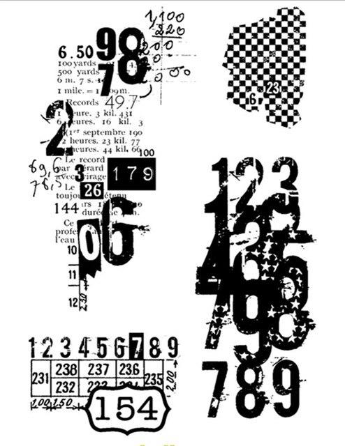 Número 6 transparente de silicona sello/sello DIY scrapbooking/foto álbum decorativo claro sello M22