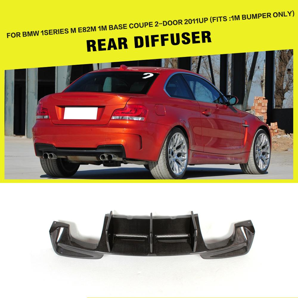 Carbon Fiber Racing Rear Diffuser Lip for BMW E82 1 Series 1M Coupe 2 Door Only