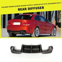 Carreras de Fibra de carbono Rear Lip Difusor para BMW E82 1 Serie 1 M Coupé de $ Number Puertas Solamente 2011 2012 2013