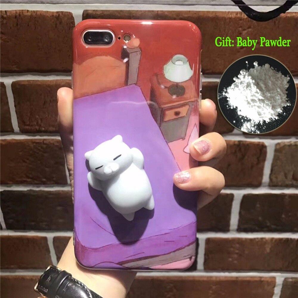 Squishy 3d cat phone case - Luminous Squishy 3d Cats Phone Cases For Iphone 6 6s 6plus 7 Plus Case Soft Kitty