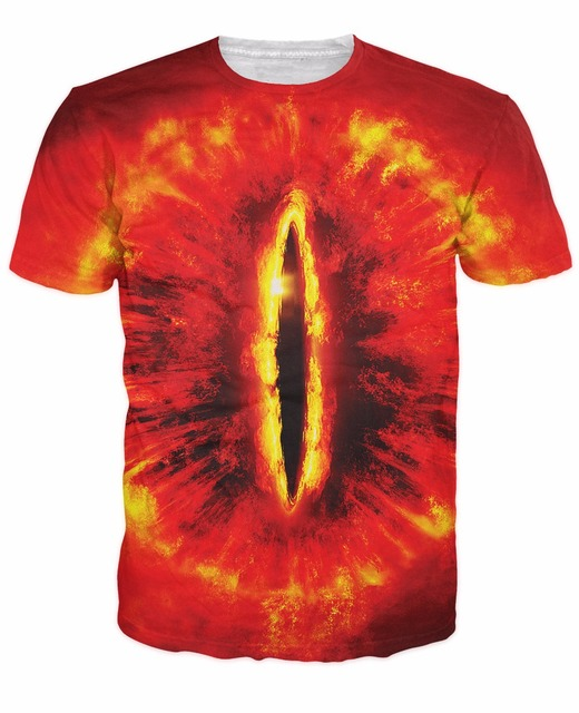 Ojo de Sauron T-Shirt Sexy Sauron Eye 3d impresión de moda tee The Dark señor en el señor de los anillos t shirt tops para mujeres hombres