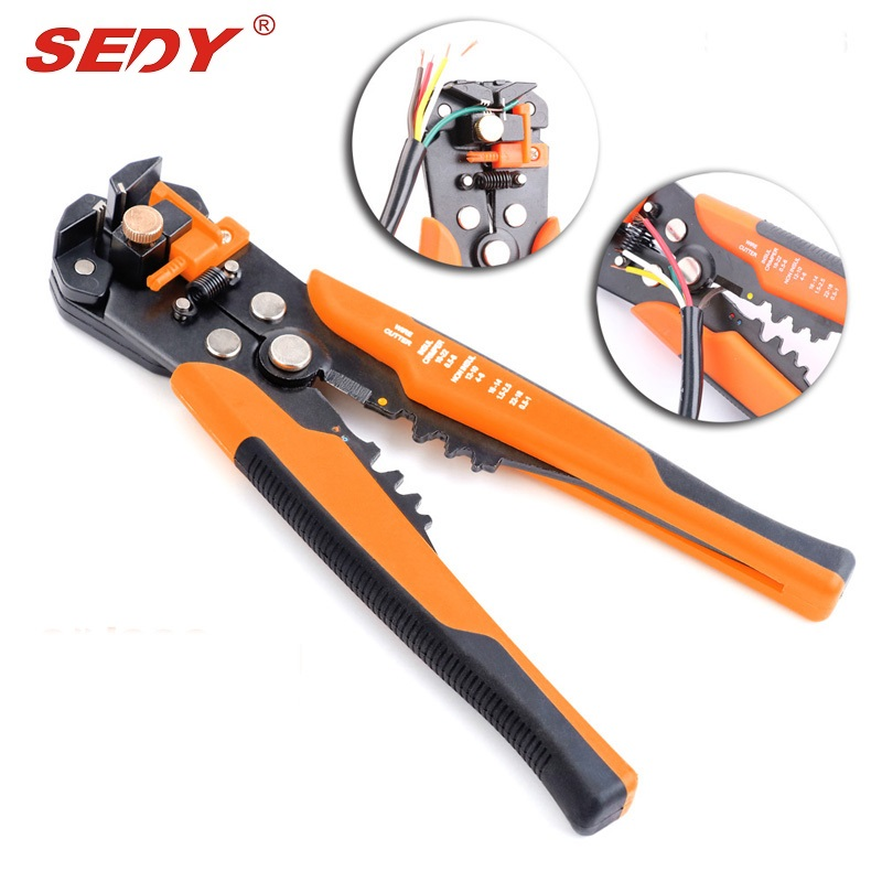 High Quality Multifunctional Cable Wire Stripper Plier Cutter Crimper Automatic Multifunctional Crimping Stripping Plier Tools