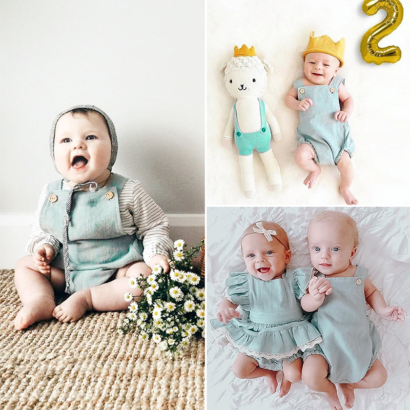 HTB1A3tZTAvoK1RjSZFNq6AxMVXa3 Mother and kids casual button dress Solid matching mom baby family clothes outfits beach dress Cute baby romper mom summer dress