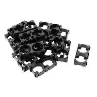 100 pces 18650 suporte da bateria suporte cilíndrico bateria 18650 li-ion celular titular anti vibração 18650 caso plástico