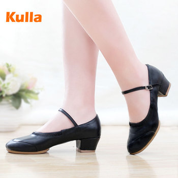 Square Dance Shoes Spring Autumn Ladies Modern Salsa Tap Latin Dancing Shoes