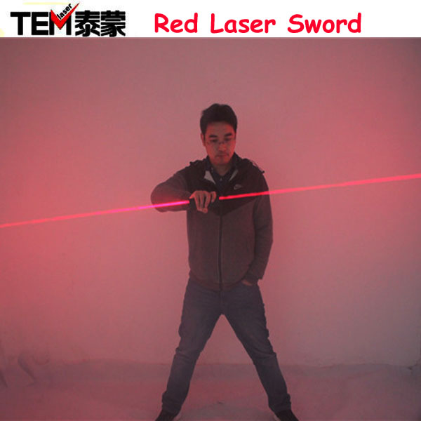 Free Shipping Dual Direction Red Laser Sword for laser man show 635nm big beam double headed