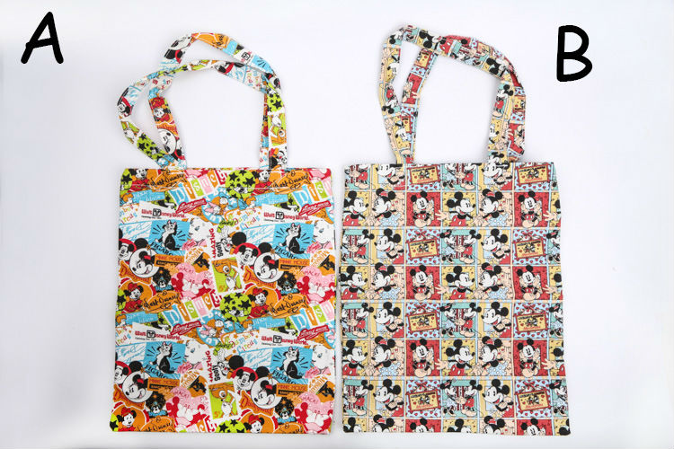 10 pcs/lot Tsum Tsum Anime Shopping Bag Minnie Mickey mouse Kitty Purin canvas bag cartoon printing drawstring bag free shipping