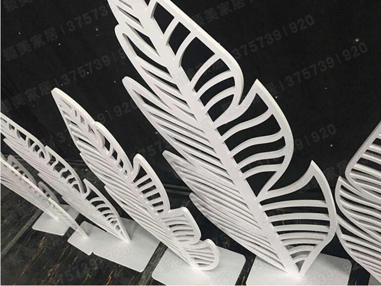 PVC iron art hollowing leaves maple leaf decoration hotel stage decoration wedding products in Party DIY Decorations from Home Garden