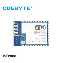 CDEBYTE E103-W02 Industrial Low Power 2.4GHz TI CC3200 WiFi Module IEEE802.11b/g/n 300m RF wifi wireless module цены