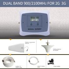 Especialmente para MegaFon Rusia 2G + 3G amplificador de señal móvil Vodafone MTS Naranja cellualr LCD de señal amplificador de señal kit de refuerzo
