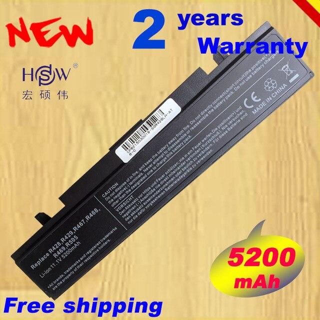 HSW 5200 mAh 6 Hücre Laptop Batarya SAMSUNG AA PB9NC6B AA PB9NS6B NP355V5C R428 hızlı kargo