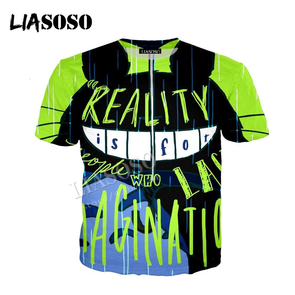 LIASOSO latest 3D printed polyester zipper hoodie anime Hayao Miyazaki Totoro hip hop graffiti men women sportswear CX396