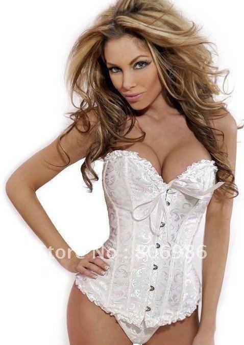 3ed5307e51 New Sexy White Wedding Corset Tops bridal bustier Lingerie women s underwear-in  Control Panties from Underwear   Sleepwears on Aliexpress.com