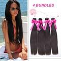 4 Bundles Cheap Peruvian Virgin Hair Straight 7A Virgin Straight Hair Extensions Rosa Hair Products 8-30Inch Human Hair Weave