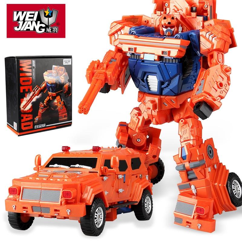 2018 2018 New WJ WEI JIANG DHL Transformation Sideload Wei Jiang Metal Part Oversize Throttlebots Sideload Wideload Figure Toys wei 500g
