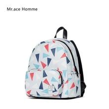 Mr. ace homme женщины мини-рюкзак модные 3D печати рюкзак школьные сумки для девочек-подростков ноутбук рюкзак дорожные сумки женские
